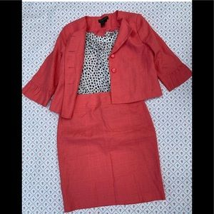 Chadwick's coral skirt suit shirt in other listing